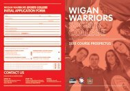 2015 Prospectus - Wigan Warriors Sport College