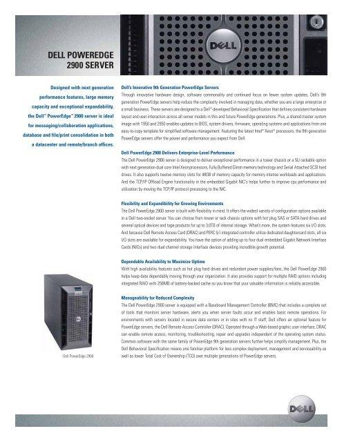 DELL POWEREDGE 2900 SERVER - Gebruikteservers