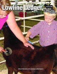 Summer 06 Ledger - American Lowline Registry