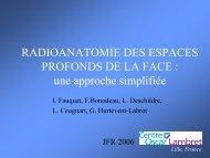 RADIOANATOMIE DES ESPACES PROFONDS DE LA FACE : une ...