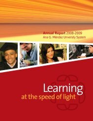 at the speed of light - Sistema Universitario Ana G. Mendez
