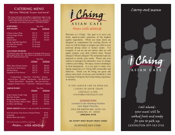 Broadband Download - I Ching Asian Cafe