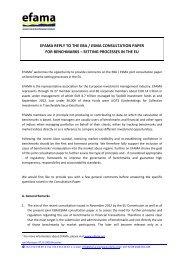 EFAMA response to EBA and ESMA consultation on Benchmarks