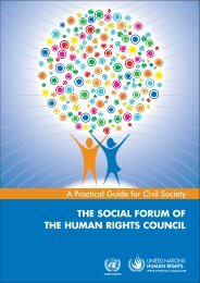 the social forum of the human rights council - Office of the High ...
