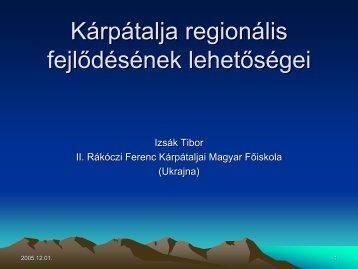 Kárpátalja regionális fejlődésének lehetőségei