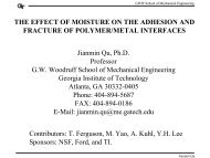 THE EFFECT OF MOISTURE ON THE ADHESION AND ... - Sematech