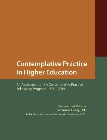An Assessment of the Contemplative Practice Fellowship Program