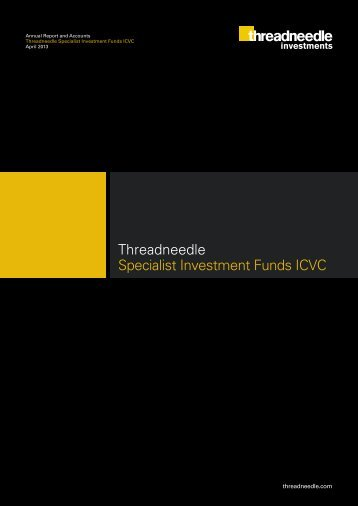 Threadneedle Specialist Investment Funds ICVC - Fundsupermart.com