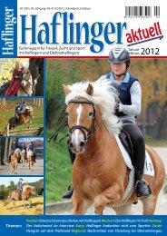 Themen: - Haflinger aktuell