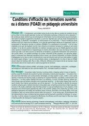 Conditions d'efficacité des formations ouvertes ou à distance (FOAD ...