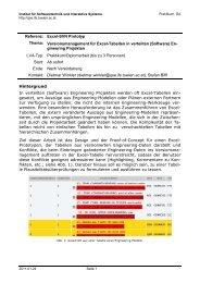 Versionsmanagement für Excel-Tabellen in verteilten (Software)