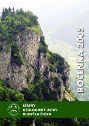 Ročenka ŠGÚDŠ 2005 (SK) (pdf - 7,36 MB) - Štátny geologický ...