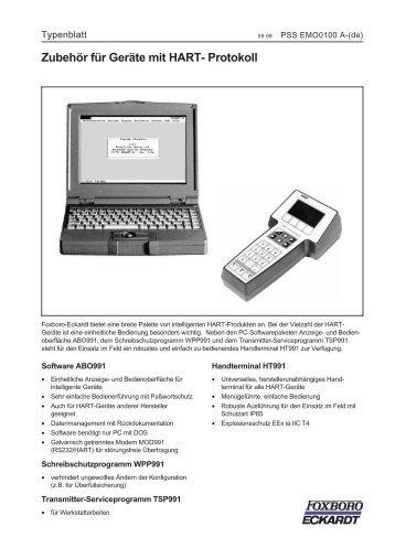 Typenblatt - FOXBORO ECKARDT GmbH