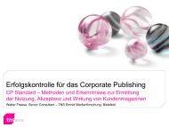 Erfolgskontrolle für das Corporate Publishing - TNS Emnid