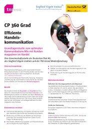 CP 360 Grad Effiziente Handels- kommunikation - TNS Emnid