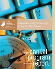 2006 Annual Report - New York State Small Business Development ...