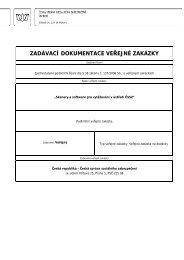 zadávací dokumentace veřejné zakázky - Česká správa sociálního ...