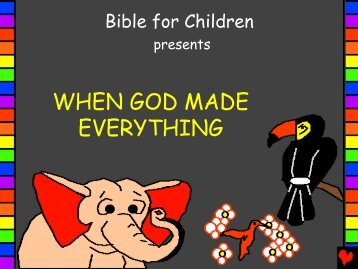When God Made Everything English - Bible for Children