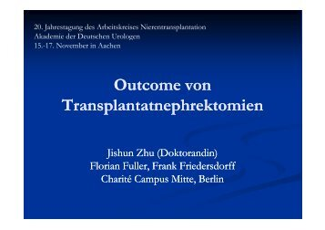 Outcome von Transplantatnephrektomien - nieren-transplantation.com