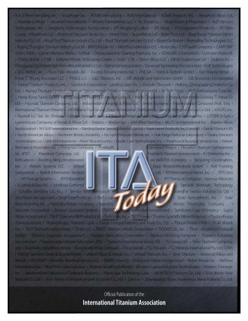 2008 New ITA Members - International Titanium Association
