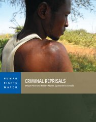 CRIMINAL REPRISALS - Human Rights Watch