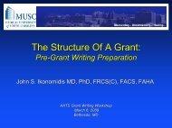 Pre Grant Writing Preparation