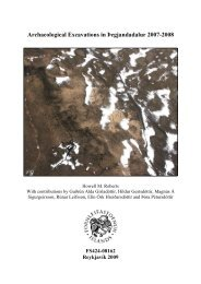 Archaeological Excavations in Þegjandadalur 2007-2008 - Nabo