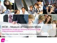 MCM – Measure all Corporate Media - TNS Emnid