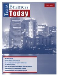 Newsletter: Texas Business Today, Fall 2005 - Texas Workforce ...