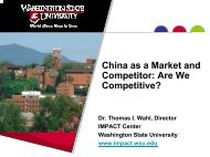 China as a Market and Competitor: Are We Competitive?