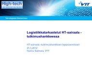 Logistiikkatarkastelut HT-sairaala -tutkimushankkeessa - High-tech ...