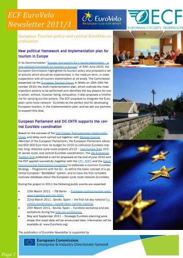 ECF EuroVelo Newsletter 2011/1