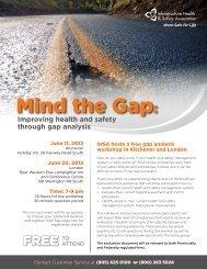 Mind the Gap: - Infrastructure Health & Safety Association