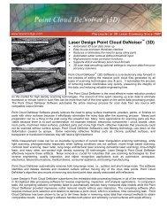 Laser Design Point Cloud DeNoiser (3D) - Laser Design   GKS