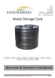 Water Storage Tank – Installation Guide - Enduramaxx