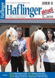 Zucht: Weltausstellung in Ebbs Sport: Haflinger zeigen Klasse ...