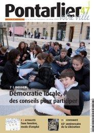 Démocratie locale, - Ville de Pontarlier