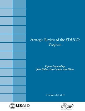 Strategic Review of the EDUCO Program - EQUIP123.net