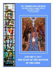 the feast of the baptism of the lord - Parafia św. Ferdynanda w Chicago