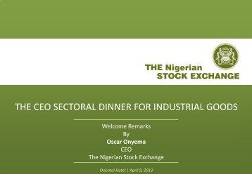 CEO's Welcome Speech - The Nigerian Stock Exchange