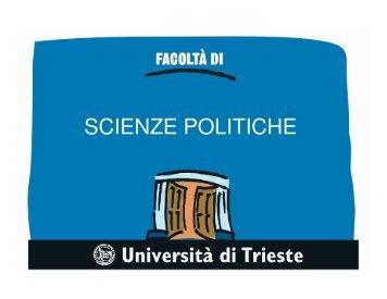 SCIENZE POLITICHE
