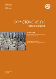 DRY STONE WORK - International Specialised Skills Institute