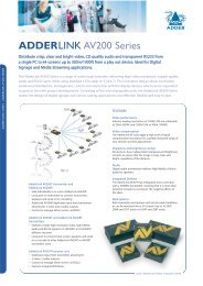 ADDERLINK AV200 Series - VIDELCO