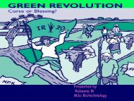 Green Revolution - (CUSAT) – Plant Biotechnology laboratory