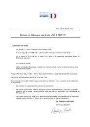 Décision du Défenseur des droits n°M L D 2012-175 - Le Défenseur ...