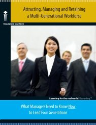 Attracting, Managing and Retaining a Multi-Generational Workforce