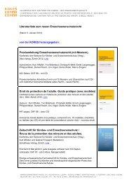Literaturliste zum neuen Erwachsenenschutzrecht von der KOKES ...