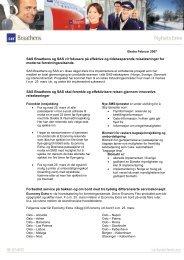 SAS Braathens og SAS vil fokusere på effektive og tidsbesparende ...