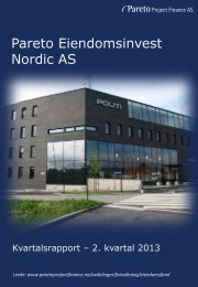 Pareto Eiendomsinvest Nordic AS - Pareto Project Finance