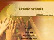 Ethnic Studies Program - College of Social and Behavioral Sciences ...
